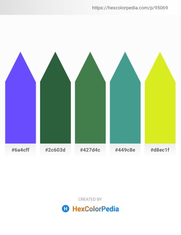 Palette image download - Medium Slate Blue – Dark Slate Gray – Dark Olive Green – Medium Sea Green – Yellow