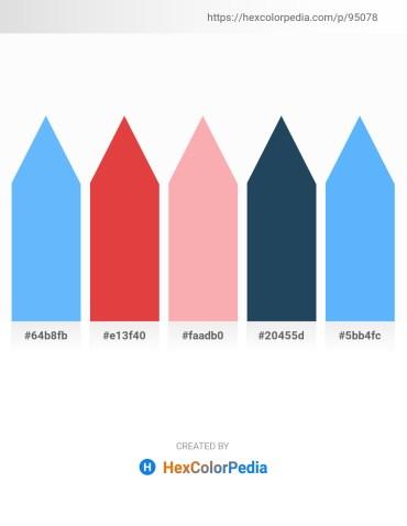 Palette image download - Light Sky Blue – Crimson – Light Pink – Midnight Blue – Light Sky Blue
