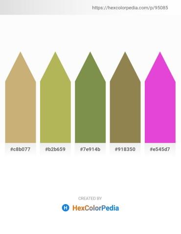 Palette image download - Dark Khaki – Dark Khaki – Dark Olive Green – Dark Khaki – Orchid