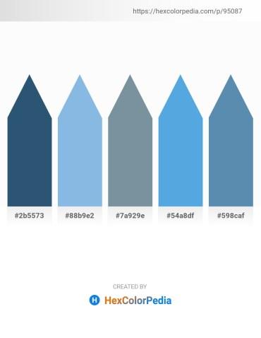 Palette image download - Dark Slate Blue – Sky Blue – Light Slate Gray – Cornflower Blue – Steel Blue