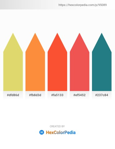 Palette image download - Burlywood – Coral – Tomato – Tomato – Dark Olive Green