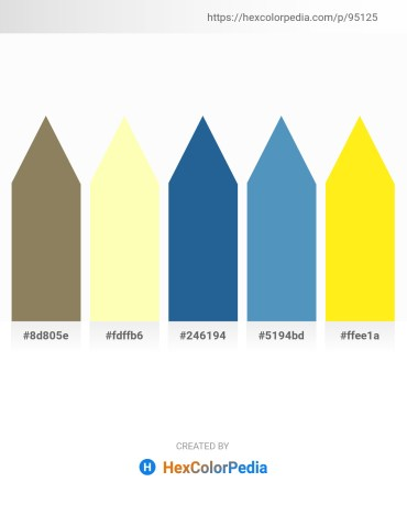 Palette image download - Gray – Lemon Chiffon – Olive Drab – Steel Blue – Yellow