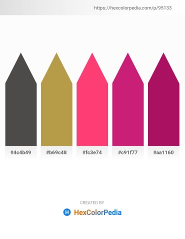 Palette image download - Dim Gray – Dark Khaki – Deep Pink – Medium Violet Red – Medium Violet Red