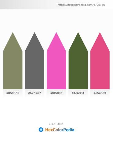 Palette image download - Gray – Dim Gray – Hot Pink – Dark Olive Green – Pale Violet Red