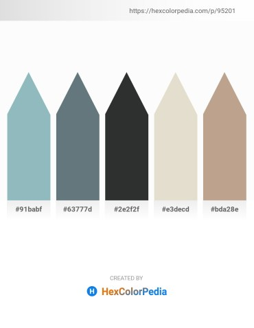 Palette image download - Dark Sea Green – Slate Gray – Dark Slate Gray – Beige – Rosy Brown
