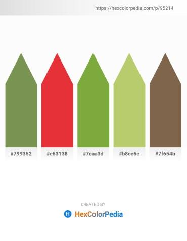 Palette image download - Dark Olive Green – Crimson – Yellow Green – Dark Khaki – Dark Olive Green