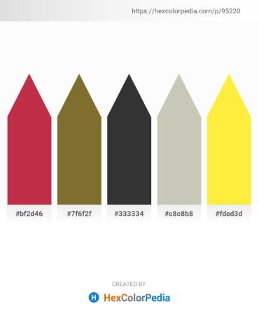 Palette image download - Brown – Dark Olive Green – Dark Slate Gray – Silver – Yellow