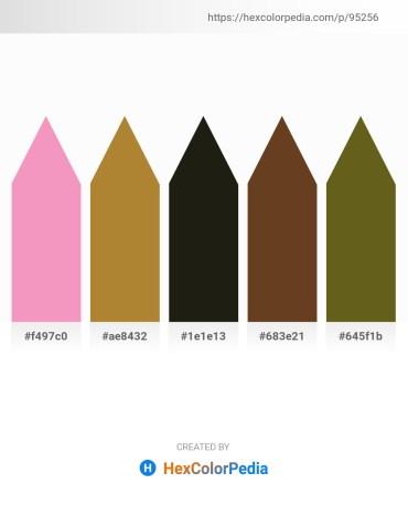 Palette image download - Violet – Peru – Black – Sienna – Olive Drab