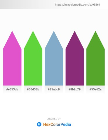 Palette image download - Orchid – Lime Green – Light Steel Blue – Dark Sea Green – Olive Drab