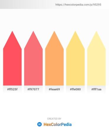Palette image download - Tomato – Salmon – Light Salmon – Navajo White – Moccasin