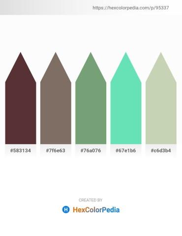 Palette image download - Dark Slate Blue – Dim Gray – Dark Sea Green – Turquoise – Dark Sea Green