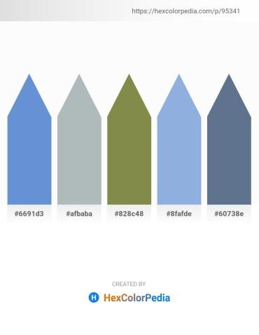 Palette image download - Dark Sea Green – Dark Sea Green – Dark Olive Green – Light Blue – Slate Gray