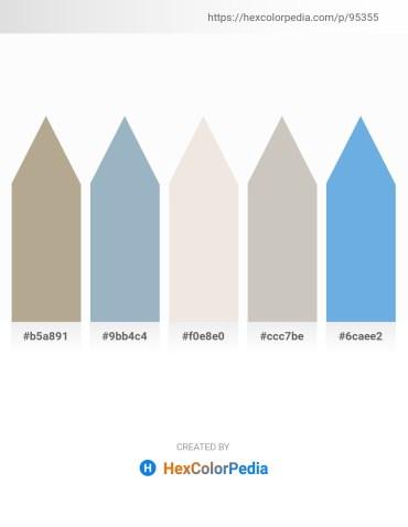 Palette image download - Rosy Brown – Light Steel Blue – Beige – Silver – Cornflower Blue