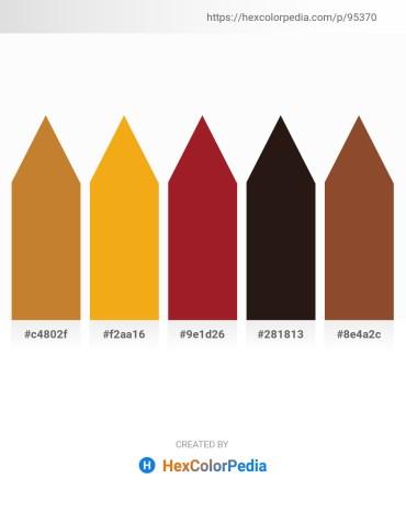 Palette image download - Peru – Orange – Firebrick – Tomato – Sienna