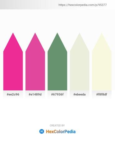 Palette image download - Deep Pink – Pale Violet Red – Cadet Blue – Beige – Beige