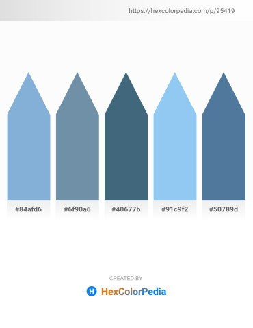 Palette image download - Light Steel Blue – Cadet Blue – Dark Slate Blue – Sky Blue – Steel Blue