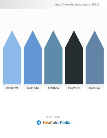 Palette image download - Sky Blue – Dark Olive Green – Cadet Blue – Dark Slate Gray – Cadet Blue
