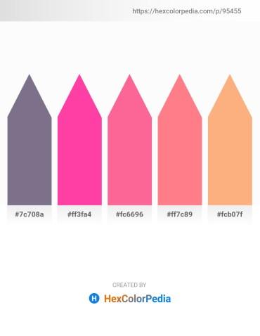 Palette image download - Slate Gray – Hot Pink – Hot Pink – Salmon – Light Salmon