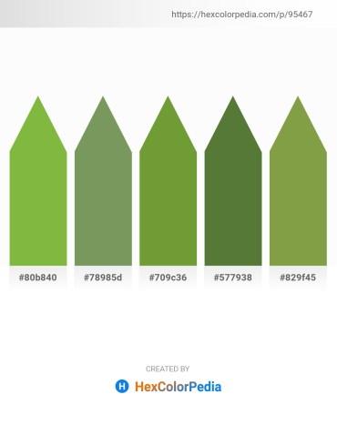 Palette image download - Yellow Green – Dark Sea Green – Olive Drab – Dark Olive Green – Sky Blue