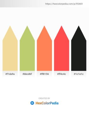 Palette image download - Khaki – Dark Khaki – Coral – Tomato – Dark Slate Gray