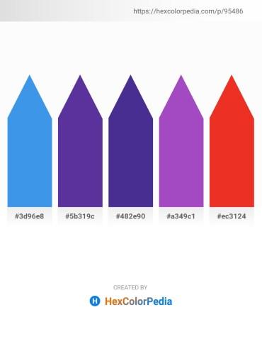 Palette image download - Cornflower Blue – Dark Slate Blue – Dark Slate Blue – Dark Orchid – Crimson
