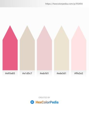 Palette image download - Light Coral – Thistle – Medium Aquamarine – Beige – Misty Rose