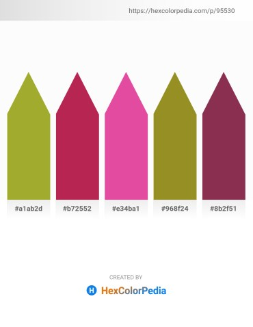 Palette image download - Yellow Green – Firebrick – Pale Violet Red – Olive Drab – Brown