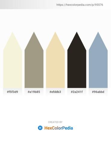 Palette image download - Beige – Dim Gray – Pale Goldenrod – Black – Light Slate Gray