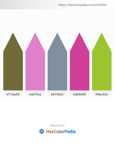 Palette image download - Dark Olive Green – Orchid – Light Slate Gray – Pale Violet Red – Yellow Green