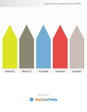 Palette image download - Light Blue – Gray – Dim Gray – Chocolate – Silver