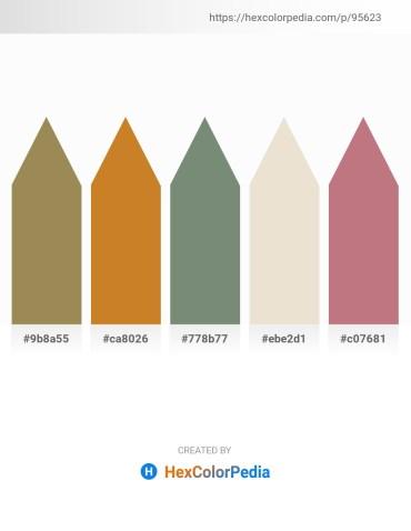 Palette image download - Dark Khaki – Chocolate – Slate Gray – Beige – Rosy Brown