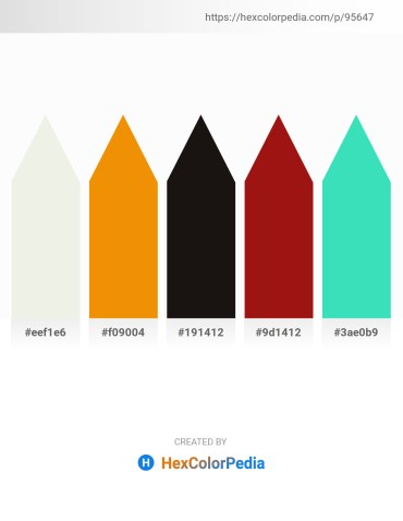 Palette image download - Beige – Dark Orange – Black – Firebrick – Turquoise