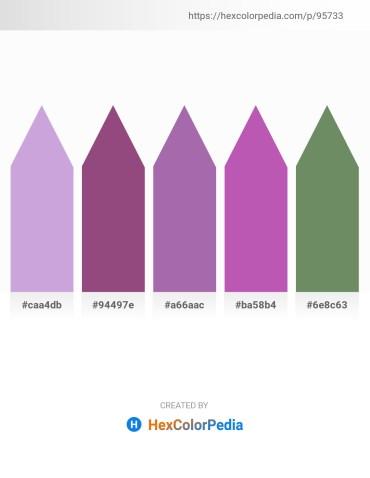 Palette image download - Light Steel Blue – Rosy Brown – Light Slate Gray – Orchid – Dark Sea Green