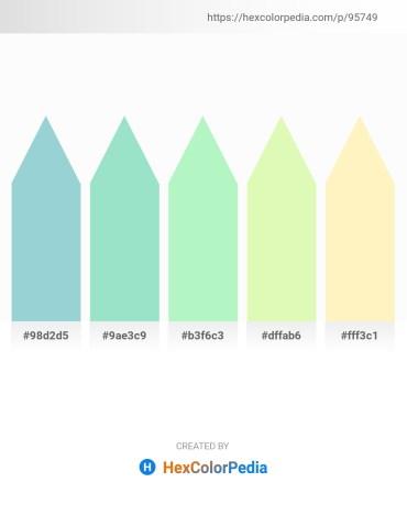 Palette image download - Light Steel Blue – Powder Blue – Light Green – Light Goldenrod Yellow – Lemon Chiffon
