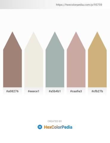 Palette image download - Rosy Brown – Beige – Dark Sea Green – Rosy Brown – Tan