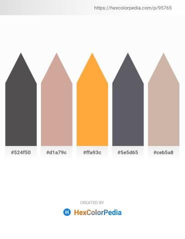 Palette image download - Dim Gray – Tan – Coral – Slate Gray – Rosy Brown
