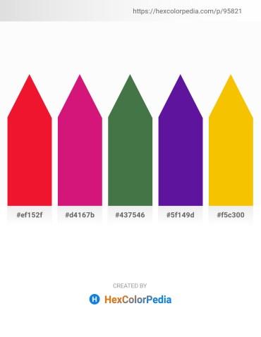 Palette image download - Crimson – Medium Violet Red – Dark Olive Green – Indigo – Gold