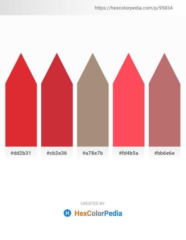 Palette image download - Crimson – Firebrick – Rosy Brown – Tomato – Rosy Brown