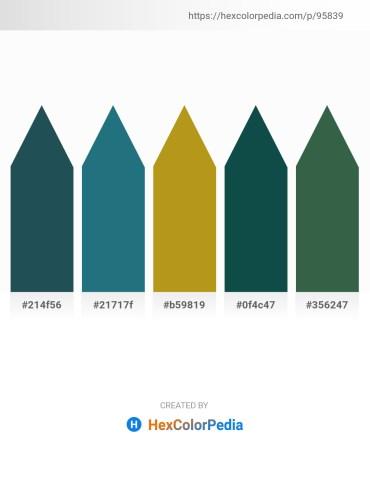 Palette image download - Dark Slate Gray – Forest Green – Goldenrod – Pale Green – Dark Slate Gray