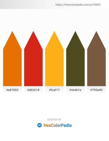 Palette image download - Dark Orange – Crimson – Orange – Dark Olive Green – Light Slate Gray