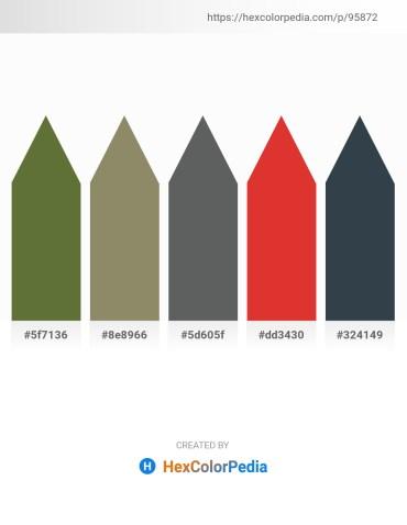 Palette image download - Dark Olive Green – Gray – Slate Gray – Crimson – Dark Slate Gray
