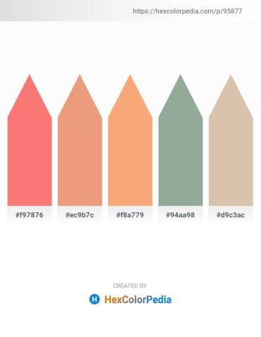 Palette image download - Salmon – Dark Salmon – Sandy Brown – Dark Sea Green – Tan
