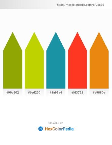 Palette image download - Olive – Gold – Light Sea Green – Orange Red – Dark Orange