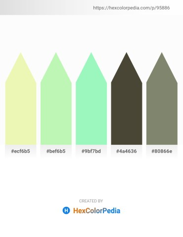 Palette image download - Wheat – Light Green – Pale Green – Dark Olive Green – Gray