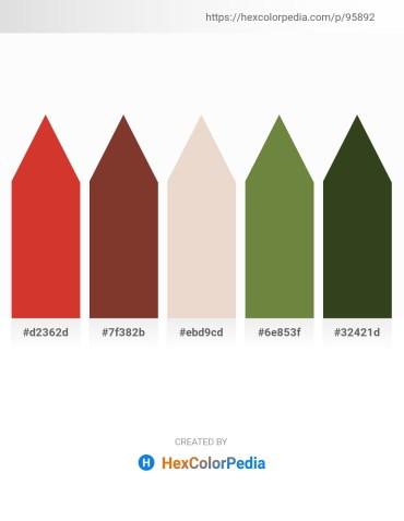 Palette image download - Firebrick – Sienna – Beige – Dark Olive Green – Dark Olive Green