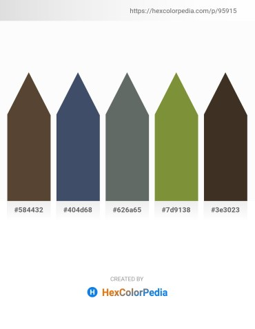 Palette image download - Dark Slate Blue – Dark Slate Gray – Slate Gray – Dark Olive Green – Beige