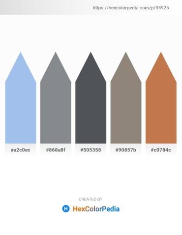 Palette image download - Sky Blue – Light Slate Gray – Dark Slate Gray – Gray – Peru