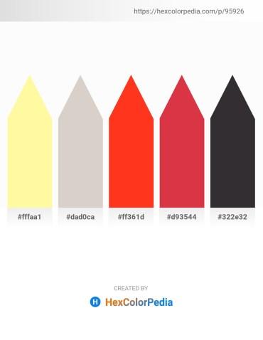 Palette image download - Navajo White – Light Gray – Orange Red – Crimson – Black