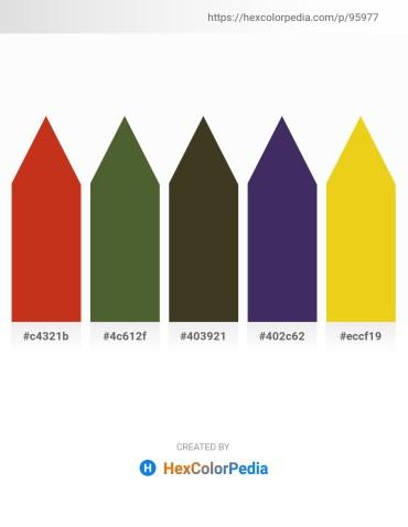 Palette image download - Firebrick – Dark Olive Green – Forest Green – Dark Slate Blue – Goldenrod