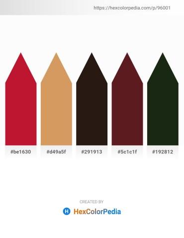 Palette image download - Crimson – Peru – Orange – Brown – Goldenrod